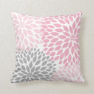 Blumenkissen der rosa grauen Dahlie Zierkissen