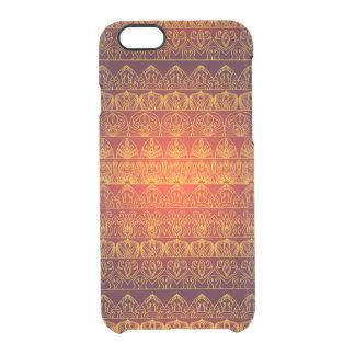 Blumenkönigliches antikes Luxusmuster Durchsichtige iPhone 6/6S Hülle