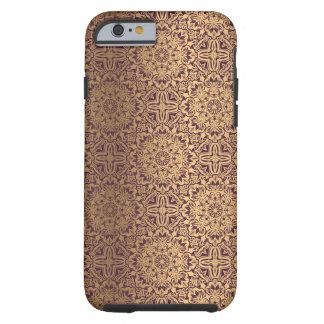 Blumenkönigliches antikes Luxusmuster Tough iPhone 6 Hülle