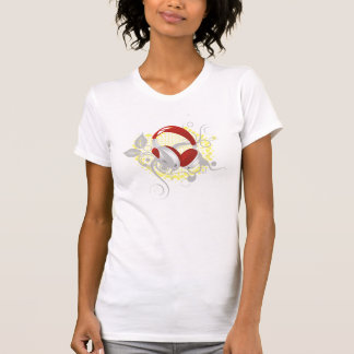 Blumenkopfhörer-T-Stück T Shirts