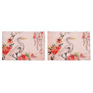 Blumenkran-Rosalachse der weißen Kissen-Hüllen Kissenbezug