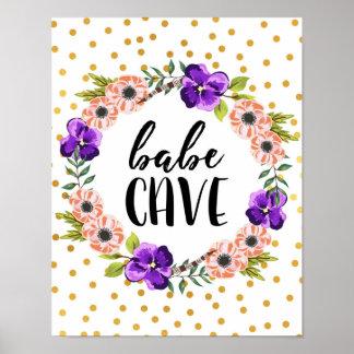 BlumenKranz-Baby-Höhlen-Druck Poster