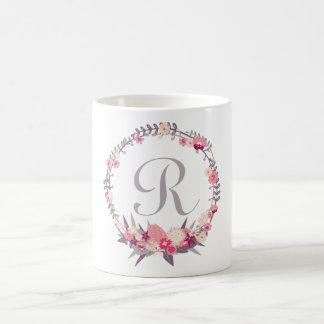 BlumenKranz-Monogramm Kaffeetasse