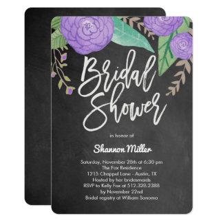 Blumenkreide-Brautparty-Einladungen 12,7 X 17,8 Cm Einladungskarte