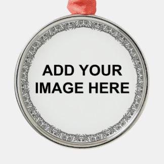 Blumenkreis personifizieren rundes silberfarbenes ornament