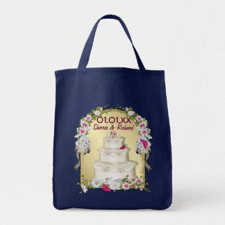 Blumenkuchen-Hochzeit Tragetasche