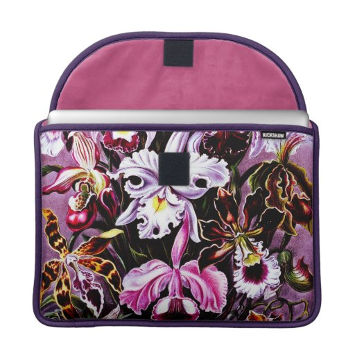 Blumenkunst der Vintagen Orchidee MacBook Pro Sleeves