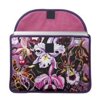 Blumenkunst der Vintagen Orchidee Sleeves Für MacBooks