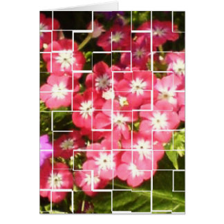 Blumenlächeln-Blumen-Glitzernrosa Karte