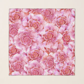 Blumenlavendel des rosa Succulentskaktus Schal