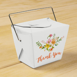 Blumenlilien-Blumen - rosa, orange Gelb-Hochzeit Geschenkschachtel