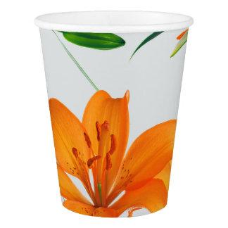 Blumenlilien-Papierschalen Pappbecher