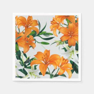 Blumenlilien-Papierservietten Serviette