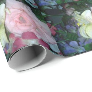 Blumenlilien-und Rosen-Verpackungs-Papier Geschenkpapier