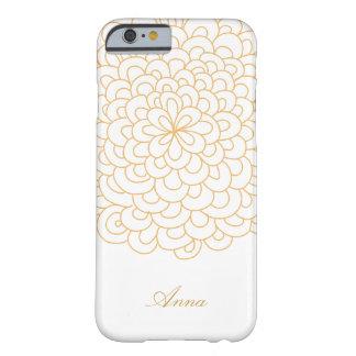 Blumenlinie Kunst Weiß und Goldmoderner iPhone Barely There iPhone 6 Hülle
