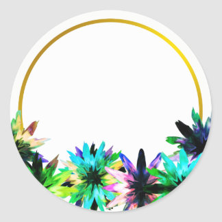 Blumenlotos-Blumen-Goldinternatsschüler-Brautparty Runder Aufkleber