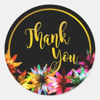 Blumenlotos-Blumen-Goldinternatsschüler danken Runder Aufkleber