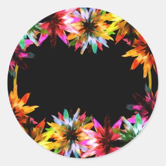 Blumenlotos-Blumewatercolor-Brautparty Runder Aufkleber