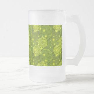 BlumenluxusMandalamuster Mattglas Bierglas