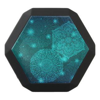 BlumenluxusMandalamuster Schwarze Bluetooth Lautsprecher