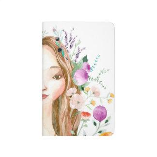 Blumenmädchen Taschennotizbuch