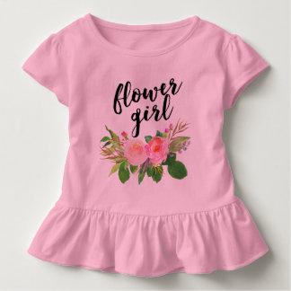 Blumenmädchen Watercolor mit Blumen Kleinkind T-shirt