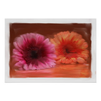 Blumenmalerei auf Leinwand