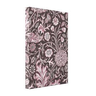 Blumenmalvenfarbe und Schokolade Leinwanddruck