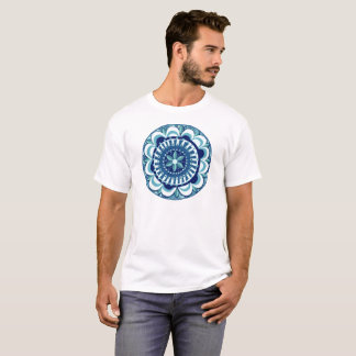 BlumenMandala im Blau T-Shirt