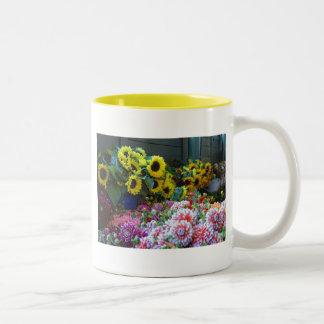 Blumenmarkt Zweifarbige Tasse