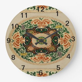 BlumenmehrfarbenMandala-Muster-Acryl-Uhr Große Wanduhr