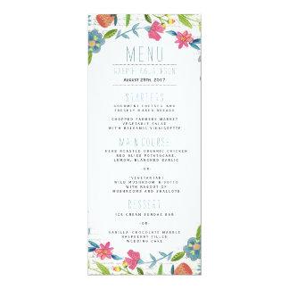 Blumenmenü-Vorlagen des 10,2 X 23,5 Cm Einladungskarte