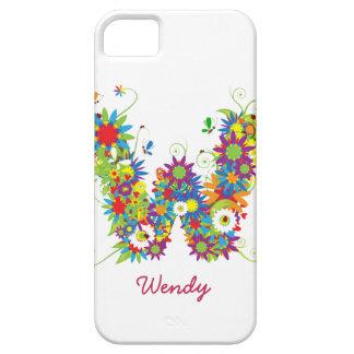 "Blumenmonogramm ""W"" iPhone 5 Case-Mate-Fall iPhone 5 Cover"