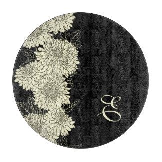 BlumenMopnogram Muster-Schneidebrett