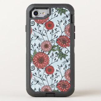 Blumenmuster 3 OtterBox defender iPhone 8/7 hülle