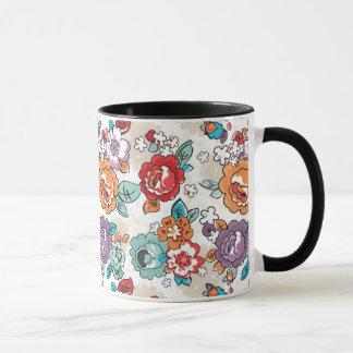 Blumenmuster 5 der abstrakten Eleganz Tasse
