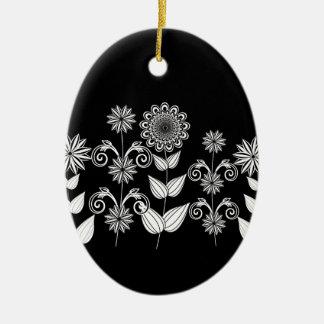 Blumenmuster 5 keramik ornament