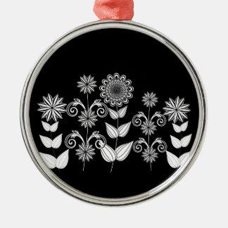 Blumenmuster 5 silbernes ornament