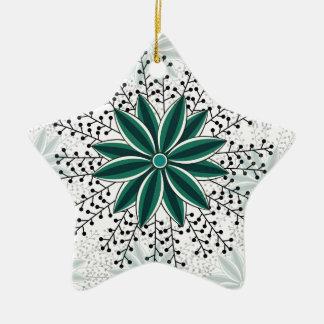 Blumenmuster 6 keramik Stern-Ornament