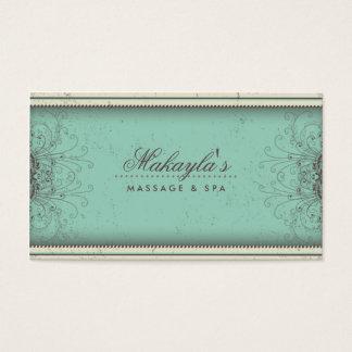 Blumenmuster-Damast-elegantes modernes nobles Visitenkarten