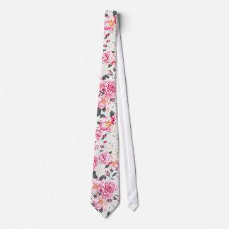 Blumenmuster der modernen Vintagen rosa schwarzen Individuelle Krawatten