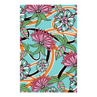 Blumenmuster des glücklichen Sommers Briefpapier