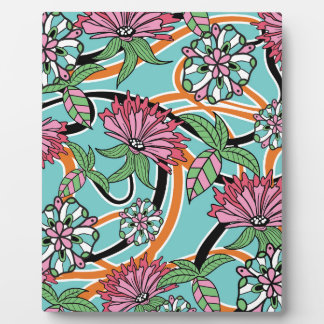Blumenmuster des glücklichen Sommers Fotoplatte