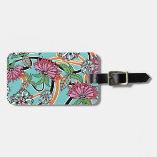 Blumenmuster des glücklichen Sommers Gepäckanhänger