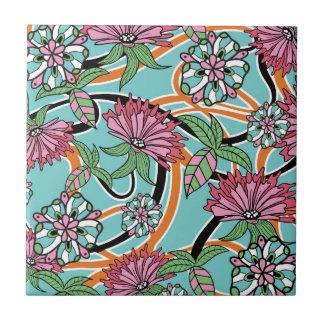 Blumenmuster des glücklichen Sommers Keramikfliese