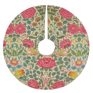 Blumenmuster des Vintagen Rosen-Chintzs Polyester Weihnachtsbaumdecke