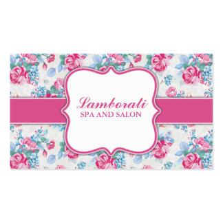 Blumenmuster-eleganter Mode-Designer-Stylist Visitenkartenvorlagen