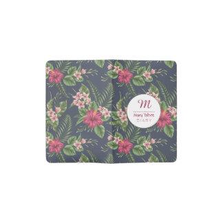 Blumenmuster Hibiskus personalisiertes Moleskine C Moleskine Taschennotizbuch