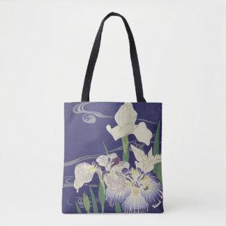 Blumenmuster, japanische Iris Tasche