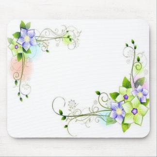 Blumenmuster Mousepad
